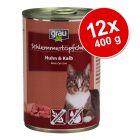 Pachet economic Grau Gourmet fără cereale 12 x 400 g