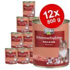 Pachet economic Grau Gourmet fără cereale 12 x 800 g