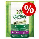 Pachet economic Greenies Snackuri dentare de ros  3 x 85 g / 170 g / 340 g