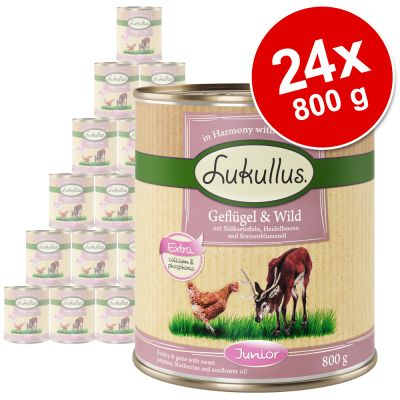 Pachet economic Lukullus Junior 24 x 800 g