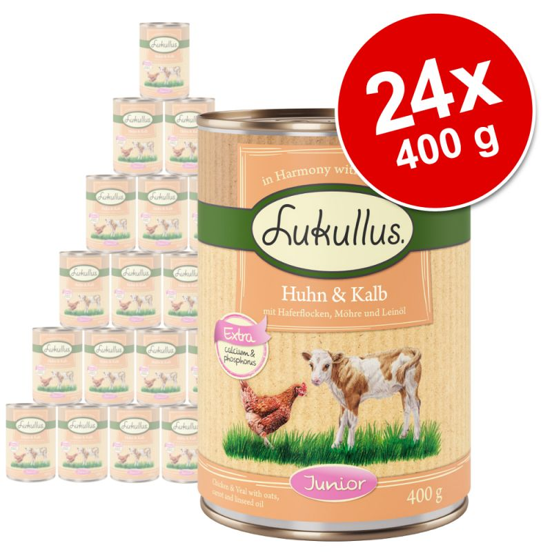 Pachet economic Lukullus Junior 24 x 400 g
