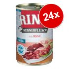 Pachet economic RINTI Kennerfleisch Junior 24 x 400 g / 24 x 800 g