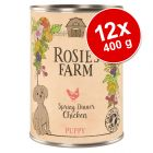 Pachet economic Rosie's Farm Puppy 12 x 400 g