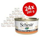 Pachet economic Schesir Ton în gelatină Conserve 24 x 85 g