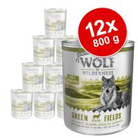 Pachet economic: Wolf of Wilderness Senior 12 x 800 g