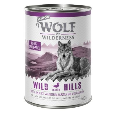 Pachet economic: Wolf of Wilderness Senior 12 x 400 g