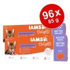 Pachet jumbo IAMS Delights Adult Land & Sea 96 x 85 g