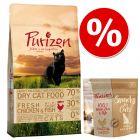 Pachet testare la preț special: 400 g Purizon hrană uscată + Purizon Snack pentru pisici