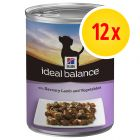 Pack ahorro Hill's Canine Ideal Balance Adult 12 x 363 g