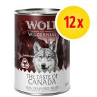 Pack ahorro Wolf of Wilderness The Taste Of 12 x 400 g