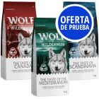Pack de prueba: Wolf of Wilderness The Taste Of 3 x 1 kg