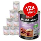 Pack económico Animonda GranCarno Sensitive 12 x 800 g