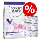Pack nutrición mixta: 3 kg  + 6 x 200 g Concept for Life Veterinary Diet
