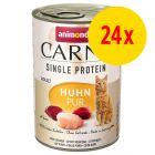 Pack ahorro Animonda Carny Single Protein Adult 24 x 400 g para gatos
