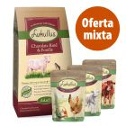 Pack alimentación mixta: pienso 1,5 kg + 6 x 300 g bolsitas mixtas Lukullus