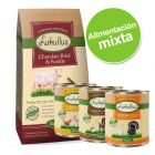 Pack alimentación mixta: pienso 10 kg + 6 x 400 g comida húmeda Lukullus