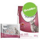 Pack bi-nutrition Concept for Life : 400 g de croquettes + 4 x 85 g sachets fraîcheur pour chat