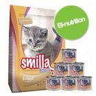 Pack bi-nutrition : croquettes + boîtes Smilla Sélection Kitten pour chaton