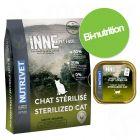 Pack bi-nutrition : croquettes 6 kg + 10 ou 12 barquettes Nutrivet Inne pour chat
