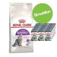 Pack bi-nutrition : croquettes + sachets Royal Canin