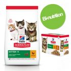 Pack bi-nutrition : 3 kg de croquettes + sachets Hill's Science Plan Kitten pour chaton