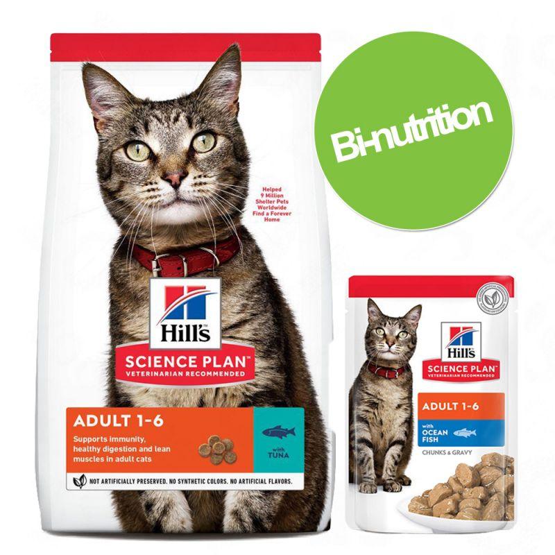 Pack bi-nutrition : 1 paquet de croquettes + 24 x 85 g de sachets Hill's Science Plan