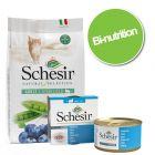 Pack bi-nutrition : Schesir en gelée 24 x 85 g + croquettes sterilized thon 4,5 kg