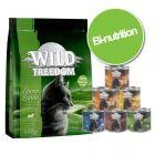 Pack bi-nutrition Wild Freedom 400 g de croquettes + 6 x 200 g de nourriture humide
