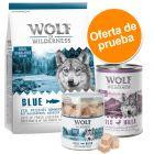 Pack de prueba mixto Wolf of Wilderness: pienso + comida húmeda + snacks