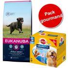 Pack Gourmand : croquettes Eukanuba + friandises Pedigree Dentastix