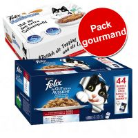 Pack gourmand : Felix Tendres Effilés 44 x 100 g + FunSauces 30 x 15 g