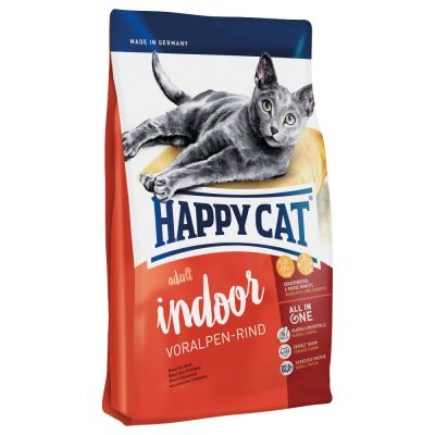 Pack gourmand Happy Cat Indoor Adult 3 saveurs