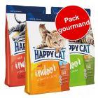 Pack gourmand Happy Cat Indoor Adult 3 saveurs