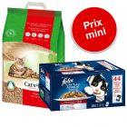 Pack malin : 20 L de litière Cat's Best Öko Plus / Original + sachets Felix Tendres Effilés en gelée