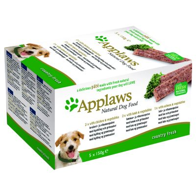 Pack mixto Applaws Paté para perros 5 x 150 g