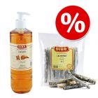 Pack mixto Dibo: aceite de salmón + snacks de salmón