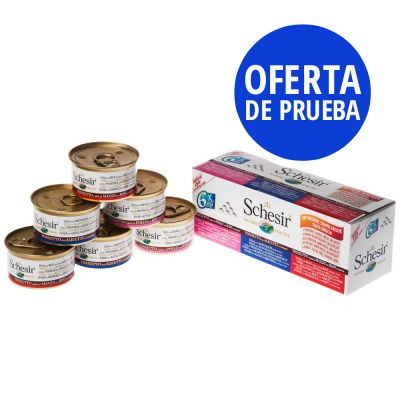 Pack mixto Schesir Natural con arroz latas 6 x 85 g