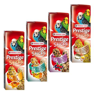 Pack mixto: Versele-Laga Prestige Sticks para periquitos