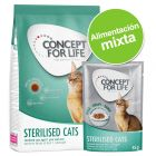 Pack nutrición mixta: pienso 400 g + sobres Concept for Life 12 x 85 g