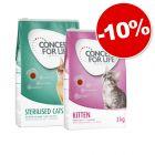 Pack transition : Croquettes Concept for Life Kitten + Adult, 10 % de remise !
