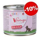 Pack transition : Feringa Kitten 6 x 200 g + Adult 6 x 200 g : 10 % de remise !