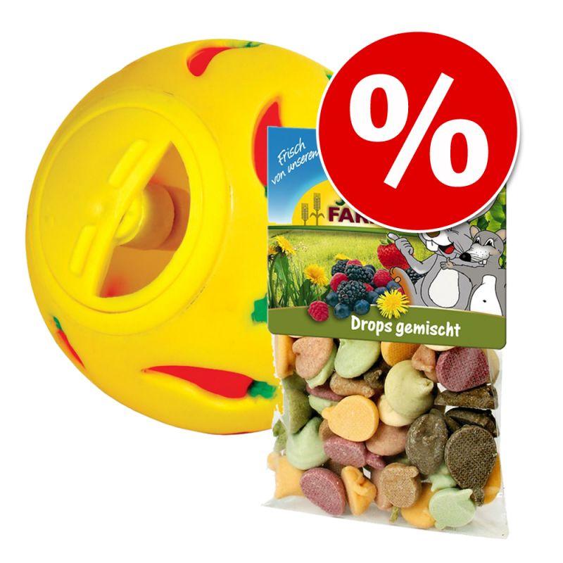 Paketpris! Trixie Snacky foderboll + JR Farm blandade drops