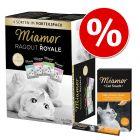 Pakettihintaan: Miamor Ragout Royale -valikoima 12 x 100 g + Multi-Vitamin Cream