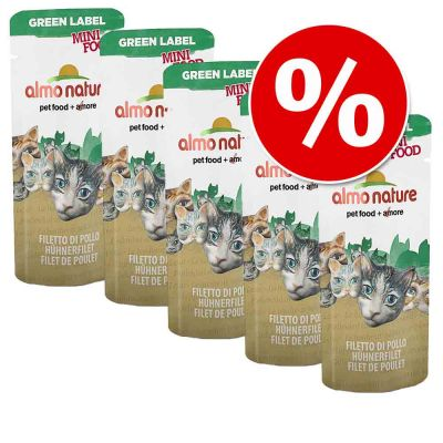 Pakiet Almo Nature Green Label Mini Food 25 x 3 g