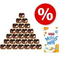 Pakiet Animonda vom Feinsten Adult, 32 x 100 g + Animonda Milkies Anti Hairball