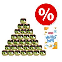 Pakiet Animonda vom Feinsten dla kastratów, 30 x 100 g + Animonda Milkies Anti Hairball