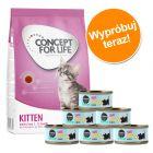 Pakiet dla kociąt: Concept for Life Kitten, 400 g + Cosma Nature w super cenie!