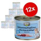Pakiet Grau Kitten, bez zbóż, z wołowiną, kaczką i drobiem