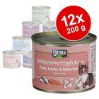 Pakiet Grau Puszka dla Łasucha bez zbóż, 12 x 200 g