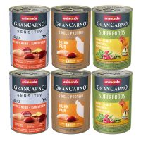 Pakiet mieszany Animonda GranCarno Adult Single Protein, 6 x 400 g